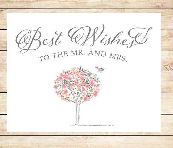 Printable best wishes wedding card instant download card m4hsunfo