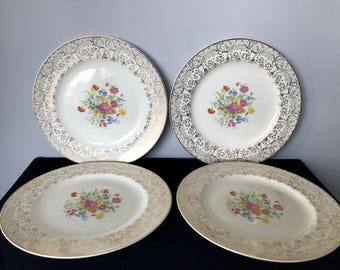 Set of 4 Vintage Steubenville Dinner Plates - STB118