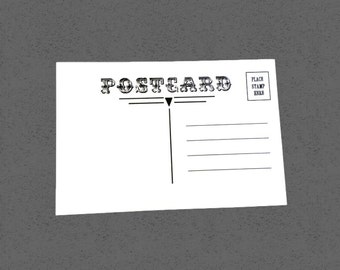 Postcard blanks, set of 25, 4x6 inch, postcard
