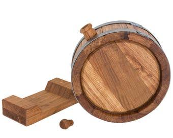 1L Oak Whiskey Rum Spirits Storage