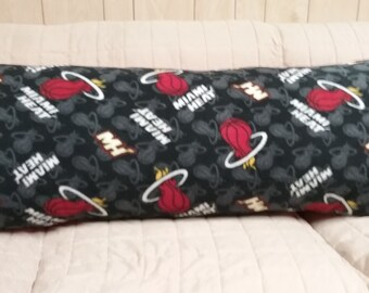 Miami Heat Fleece Body Pillow Cover