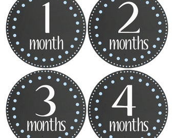Free Gift, Baby Boy Stickers, Monthly Baby Stickers, Baby Month Stickers, Chalkboard Boy Stickers, Boy Monthly Sticker, Boy Photo Prop (136)
