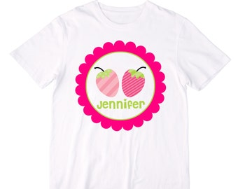 Personalized Cute Strawberries Shirt or Bodysuit - Personalized with ANY Name