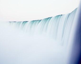 Minimalist Niagara Falls photograph. Modern landscape photography. Extra large over sofa art. Housewarming gift for travel lover.
