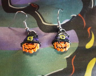 Wicked Pumpkin earrings