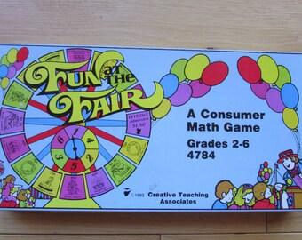 Vntg Fun at the Fair Math Game