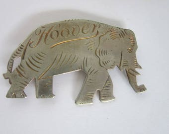 1928 Herbert Hoover Shinning Metal Elephant Large Political Pinback  Uncommon