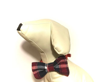 Mad About Plaid Dog Collar Bow Tie