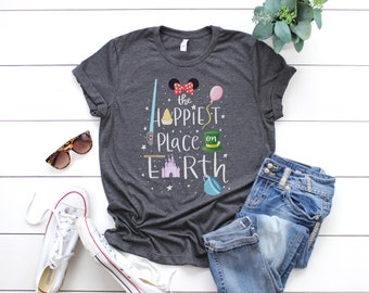 The Happiest Place on Earth Disney Inspired Unisex T-Shirt