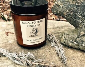 Fresh Lavender Soy Candle Amber Jar 8OZ