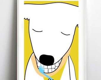 dog lover gift dog illustration print- dog illustration - prints, illustrations, dog lover gift, art print by nicemiceforyou