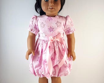 18 Inch Doll Dress, AG Doll Dress, AG Bubble Skirt Dress, American Girl Dress, Gift for Girls, 18 Inch Pink Dress, 18 inch Doll Clothes