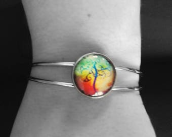 Bracelet stiff tree of life abstract (flaming)