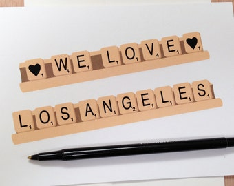 We Love LA Scrabble Greeting Card!