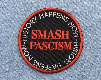Smash fascism iron on patch / antifa / anti racist / resist / protest