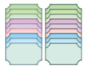 Colorful digital clipart frames, digital scrapbook frame, digital frame, clip art frame, Commercial Use, Instant Download