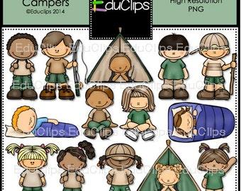 Happy Campers Clip Art Bundle