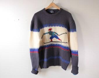 Boat House Row wool ski sweater
