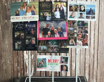 """Vintage Inspired Clip Rack with """"Peace on Earth"""" Magnet"""
