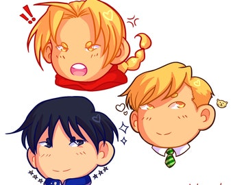 FMA Set of 3 Stickers