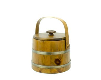 Rustic Wood Bucket, Wood Ice Bucket, Verkley's Woodcraft