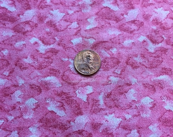 """Vintage, Cotton Fabric, Remnant, Pink Marbled , 18"""" x 21 1/2"""" long"""