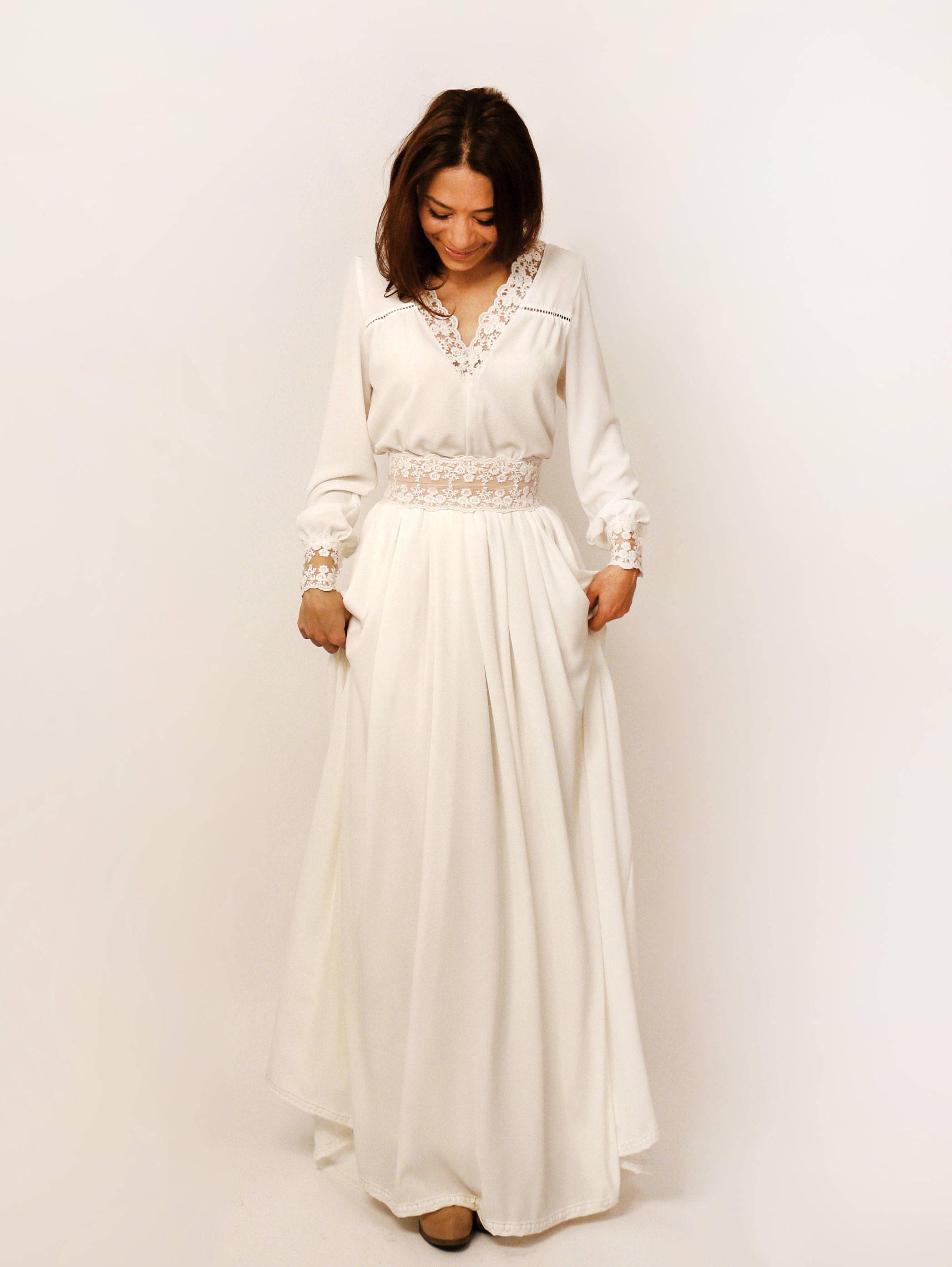 Boho Brautkleid rustikale Hochzeitskleid böhmische