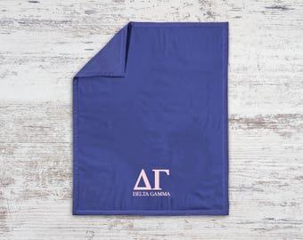 DG Delta Gamma Classic Sweatshirt Blanket Throw Greek Licensed Sorority Gift