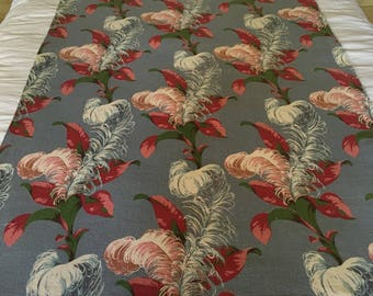 Floral Barkcloth Panels From America - 1940's