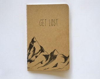 Get Lost Mountain Small Cahier Moleskine Journal Lined Pages Pocket