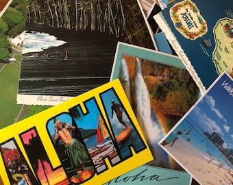 Vintage Hawaii Postcard Collection - Vintage Hawaiian Post Cards - Vintage Travel - Vintage Story & Writing - Vintage Ephemera