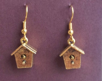 Birdhouse Earrings in Two Styles