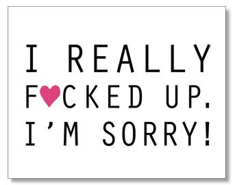 Sorry cards etsy im sorry card sympathy card forgive me funny hilarious mature i altavistaventures Image collections