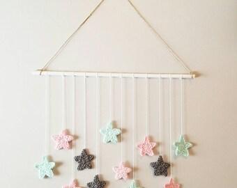 Star wall mobile, Nursery decor, Wall hanging, Start Wall Hanging,