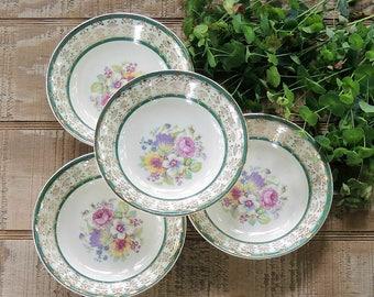 Vintage Stetson Floral Pattern Dessert Bowls Set of 4, STT167