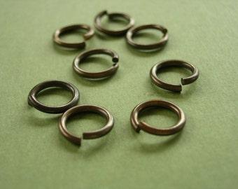 vintaj brass jump rings, eight jump rings, 10mm brass jump rings, 8 pieces