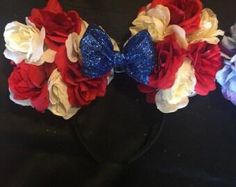 American Minnie ears, American, minnie ears, mickey ears, disney, disney ears, red white and blue, patriotic