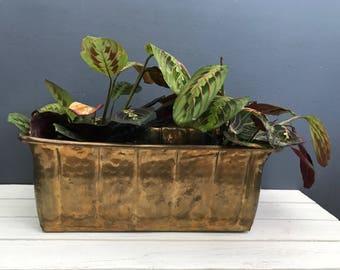 Brass planter box | Etsy
