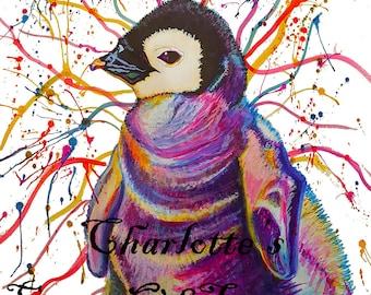 Penguin Print (*A4 Size)