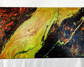 "Acrylic Flow Painting ""Lava Flow"""
