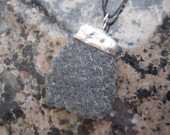 Dark grey stone pendant - P72
