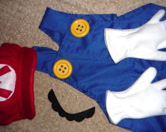 SuPeR  Mario Bros. costume  ANY SiZe CUSTOM by ORDER, Mario bros costume, Mario brothers costume, mario costume, super mario costume