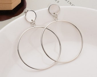 Alloy Fashion Geometric earring (Silver) NHBQ1265-Silver