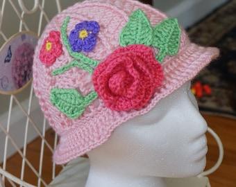 Girl's Floral Hat