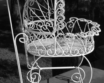 Antique Wire Baby Carriage - Perfect for Baby Shower Decorations