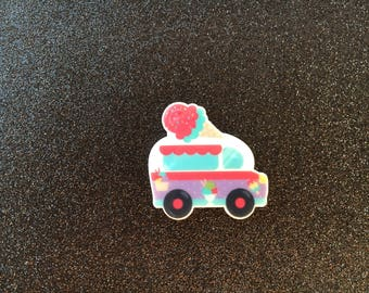 5pc. Ice Cream Truck planar resin flatback