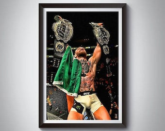 MMA Mixed Martial Arts Inspired Art Poster Painting Print 8