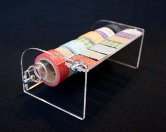 Handmade Acrylic Washi Tape Dispenser - Crystal Clear Design