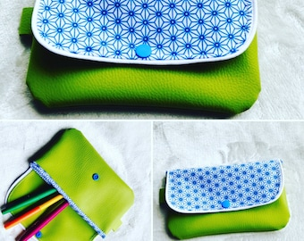 Trendy and colorful pouch
