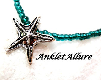 Anklet STARFISH Ankle Bracelets for Women Teal BEACH Anklet CRUISE Anklet Guaranteed Anklets